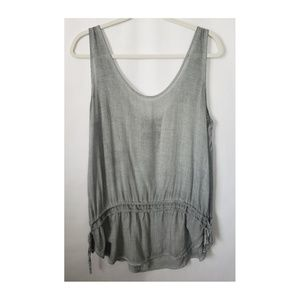 Young Fabulous & Broke Gray Sleeveless Top, Large